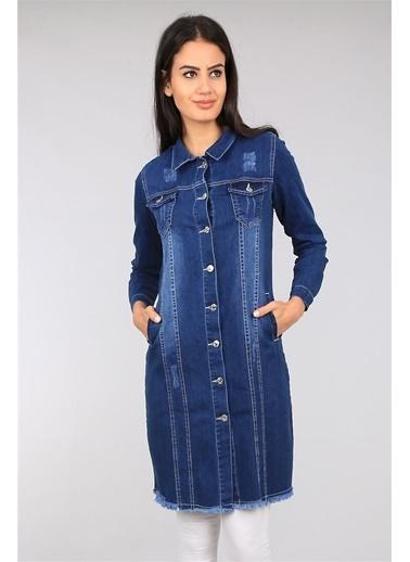Modaplaza Kadın Ceket Koyu Mavi Mavi